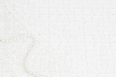 белизна шнурка предпосылки Стоковое Изображение