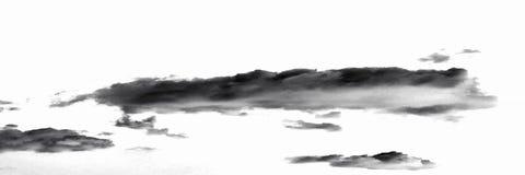 белизна дыма предпосылки черная абстрактные облака Стоковые Изображения RF