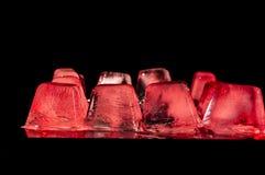 белизна льда кубика предпосылки Стоковое Изображение
