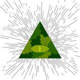 белизна экрана providence глаза предпосылки Masonic символ Стоковое фото RF