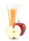 белизна яблока изолированная коктеилом Стоковое Фото