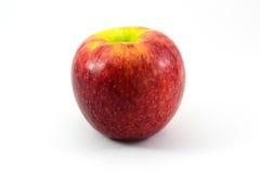 белизна яблока изолированная предпосылкой красная зрелая Стоковые Изображения RF