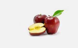 белизна яблока красная Стоковое фото RF