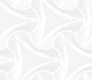 белизна 3D puckered треугольники с striped смещением Стоковое Изображение RF