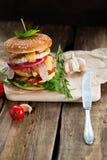 белизна dof бургера предпосылки свежая низкая вкусная Стоковая Фотография RF