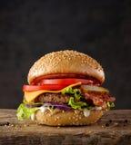 белизна dof бургера предпосылки свежая низкая вкусная Стоковые Фото