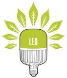 белизна eco принципиальной схемы предпосылки изолированная энергией Большая лампа приведенная Стоковая Фотография