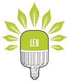 белизна eco принципиальной схемы предпосылки изолированная энергией Большая лампа приведенная Стоковые Изображения
