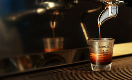 белизна espresso кофейной чашки Стоковое Изображение