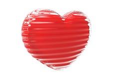 белизна isaolatet сердца предпосылки стеклянная Стоковые Изображения RF