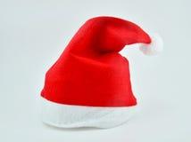 белизна santa предпосылки изолированная шлемом Стоковая Фотография