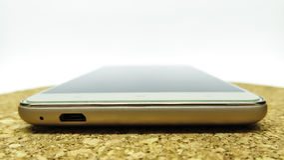 белизна smartphone фонового изображения 3d Стоковое Изображение RF