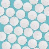 Белизна tablets предпосылка Стоковое Изображение RF
