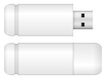 белизна usb вспышки привода предпосылки изолированная иллюстрацией Стоковое Изображение