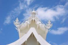 белизна wat Таиланда виска задачи rong rai khun красивейшего chiang привлекательностей искусства культурная чувствительная Стоковые Изображения RF