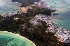 Бедность и рай острова Gaya Стоковое Фото