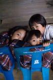 Бедно ребенок Карена в Таиланде Стоковые Фото