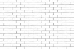 Белое безшовное brickwall с повторять пользу картины как предпосылка Стоковая Фотография RF