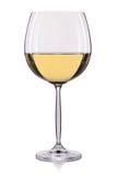 Белое вино в стекле изолированном на белой предпосылке Стоковые Фото
