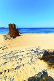 белое лето башни Лансароте Испании побережья Стоковое Изображение RF
