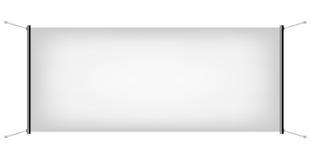 Белое знамя холста Стоковые Изображения