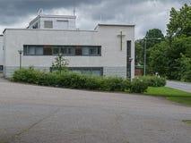 Белое здание церкви Стоковое Фото