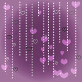 Белое и фиолетовое сердце Стоковое Изображение