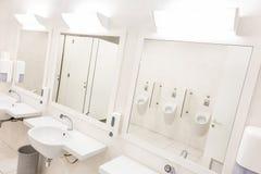 Белое общественное tilet Стоковое Изображение