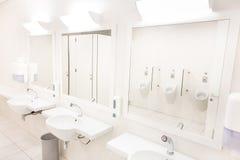 Белое общественное tilet Стоковое Изображение RF