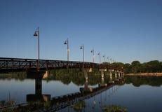 Белое озеро утес, Даллас, Техас стоковое фото