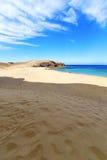 белое побережье Лансароте в людях Испании Стоковое фото RF