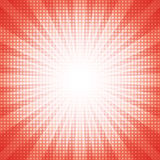 Белое полутоновое изображение точек с красной абстрактной звездой разрывало абстрактную концепцию предпосылки Стоковое Фото