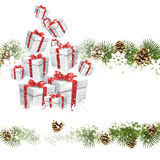 Белое приветствие рождественской открытки иллюстрация вектора