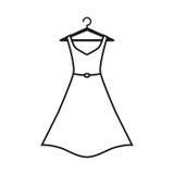 Белое платье на вешалке Стоковые Изображения