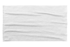 Белое пляжный полотенце Стоковая Фотография