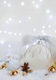 Белое рождество с снегом Стоковое фото RF