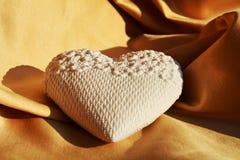 Белое сердце, концепция валентинки Стоковые Изображения RF