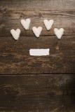 Белое сердце печений Стоковое Изображение