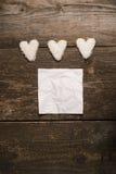 Белое сердце печений Стоковые Изображения