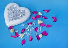 Белое сердце Стоковые Изображения