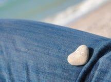 Белое сердце Стоковые Фото