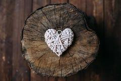 Белое сердце Стоковое Изображение