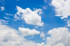 Белое тусклое небо облака Стоковые Фото