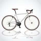 Белое bicyle Стоковое Изображение
