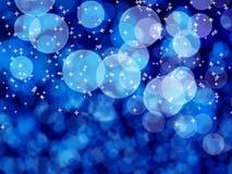 Белое bokeh на голубом телефоне Стоковая Фотография RF