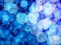 Белое bokeh на голубом телефоне Стоковые Фотографии RF