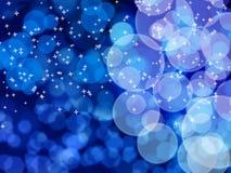 Белое bokeh на голубом телефоне Стоковые Изображения RF