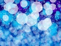 Белое bokeh на голубом телефоне Стоковые Фото