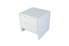 Белое nightstand Стоковые Изображения