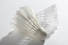 Белое shuttlecock Стоковое Фото